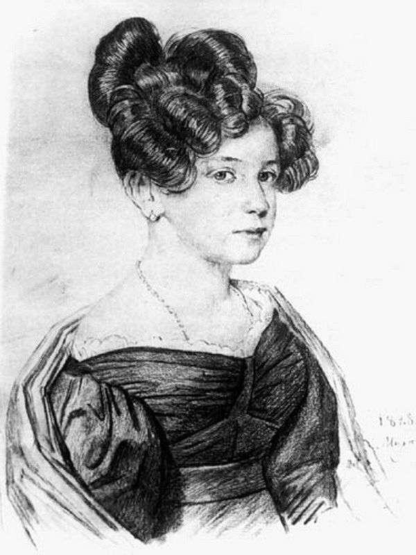 A. A. Olenina的肖像   Orest Kiprensky