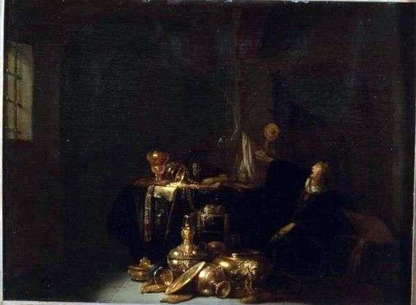 Usurer and Death   Willem de Porter