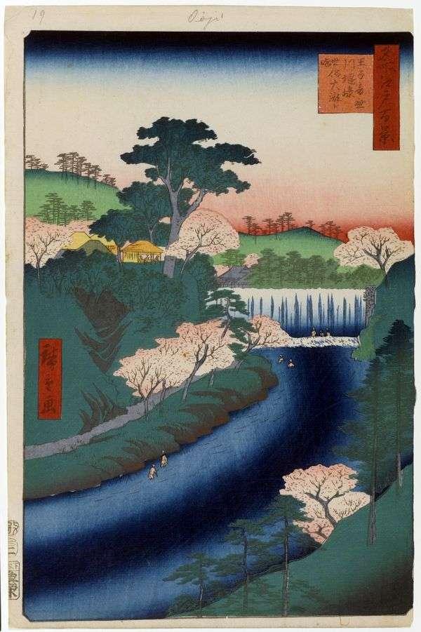 大桥在Oji的Otonashigawa河上