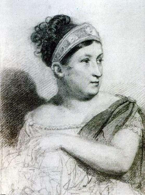 女演员E. S. Semenova   Orest Kiprensky的肖像