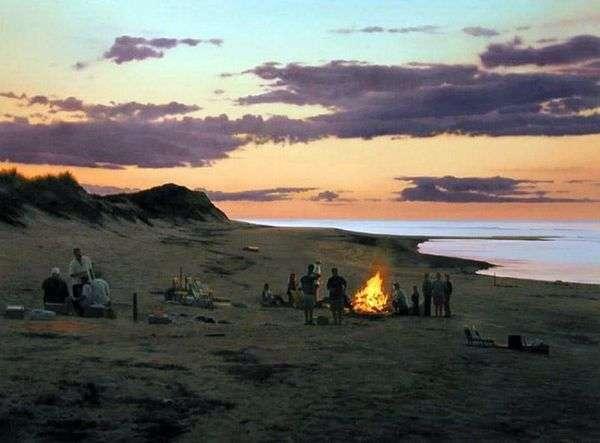 海滩上的篝火   斯科特普赖尔