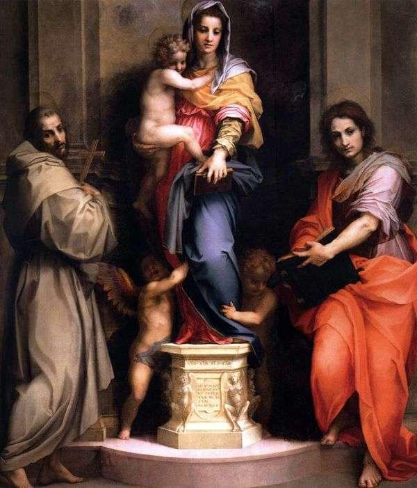 麦当娜和儿童   安德里亚德尔萨托