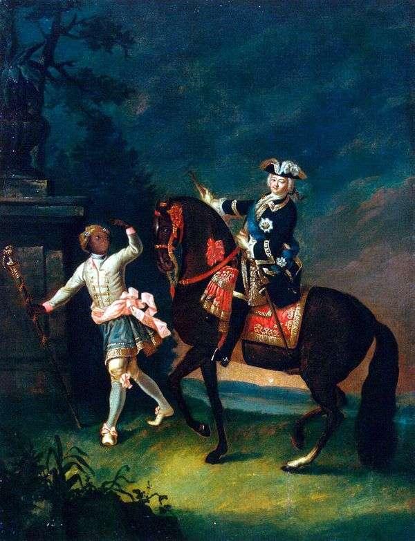 伊丽莎白Petrovna骑马画象与arapchon   格奥尔格里斯托弗Groot