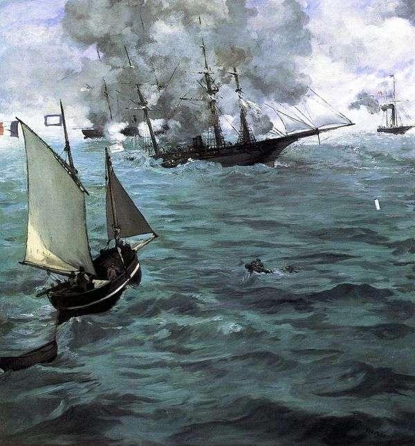 Kirsedge和Alabama之间的战斗   Edouard Manet
