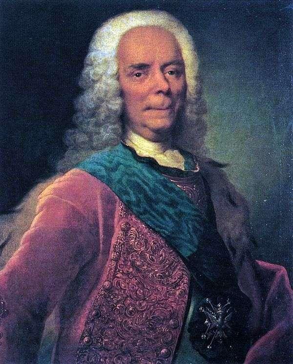 V. V. Dolgorukov王子的画像   Georg Christopher Groot
