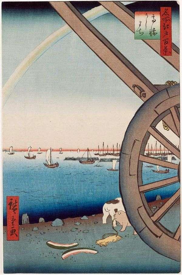 Quarter Usimati,Takanava   Utagawa Hiroshige