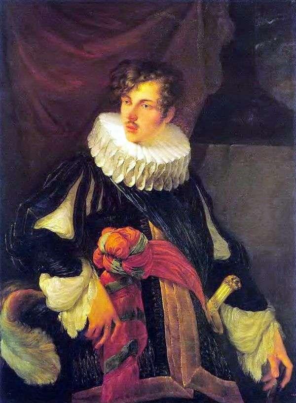 V. A. Perovsky在17世纪的西班牙服装中的肖像   Orest Kiprensky
