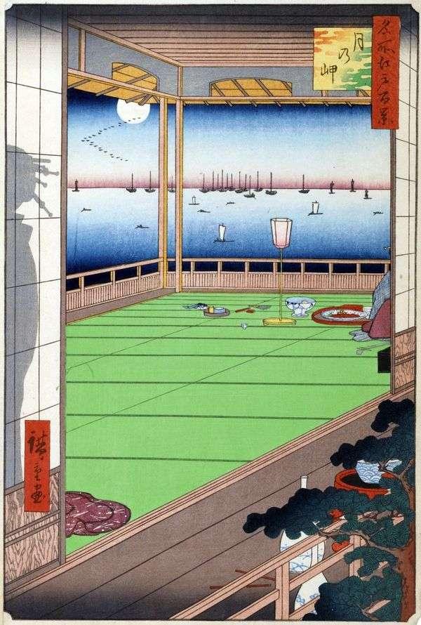 月亮在海角   Utagawa Hiroshige