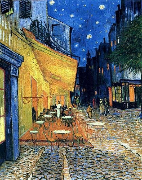 晚上在阿尔勒论坛广场的露台咖啡馆   文森特梵高