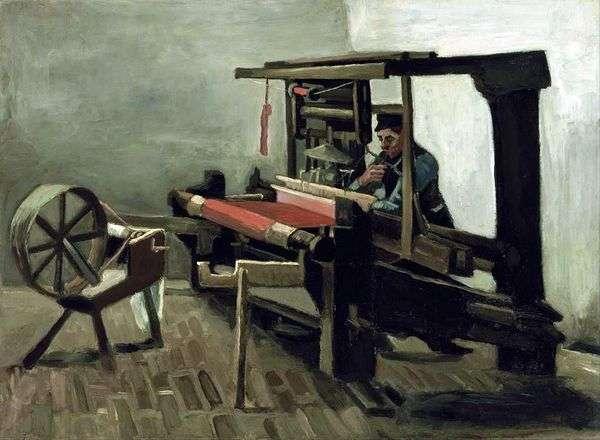 织女与纺车,转向艺术家左侧   文森特梵高