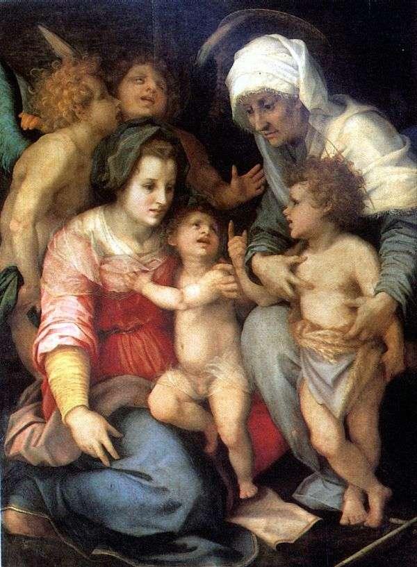 神圣家族与天使   安德里亚德尔萨托