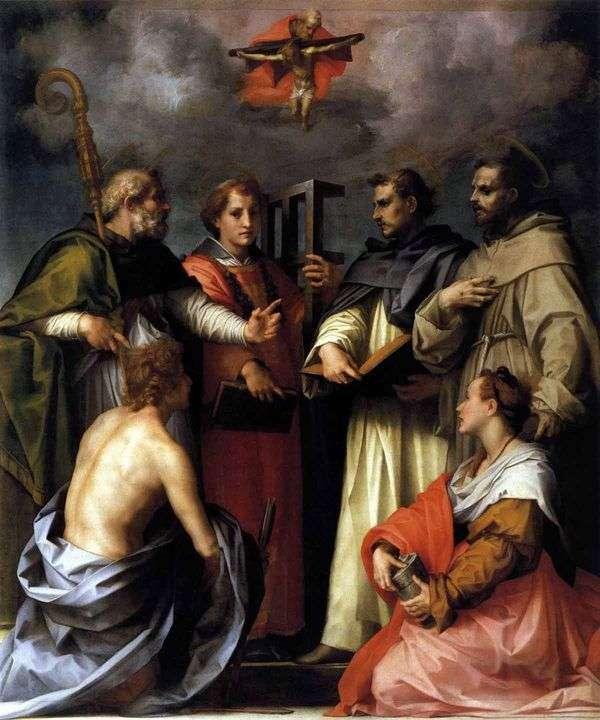 Trinity Dispute(Dispute)   Andrea del Sarto