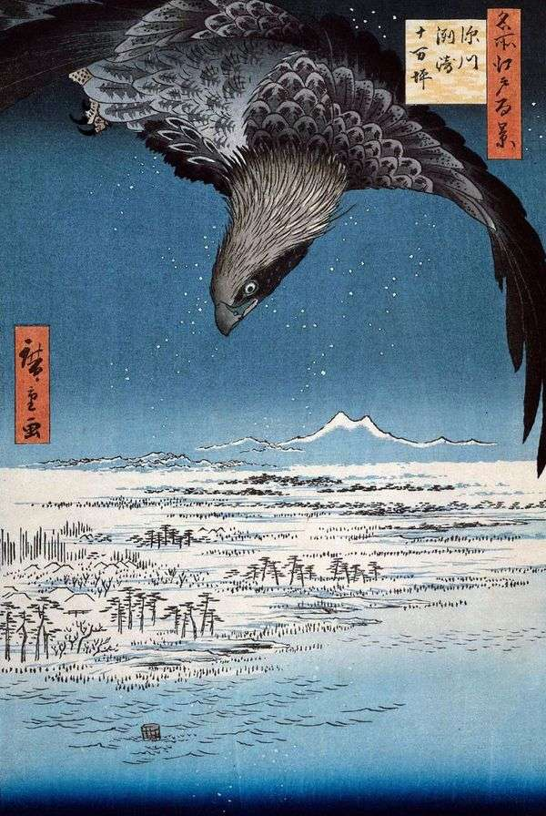 Fukagawa的Susaki和Jumantsubo地区   Utagawa Hiroshige