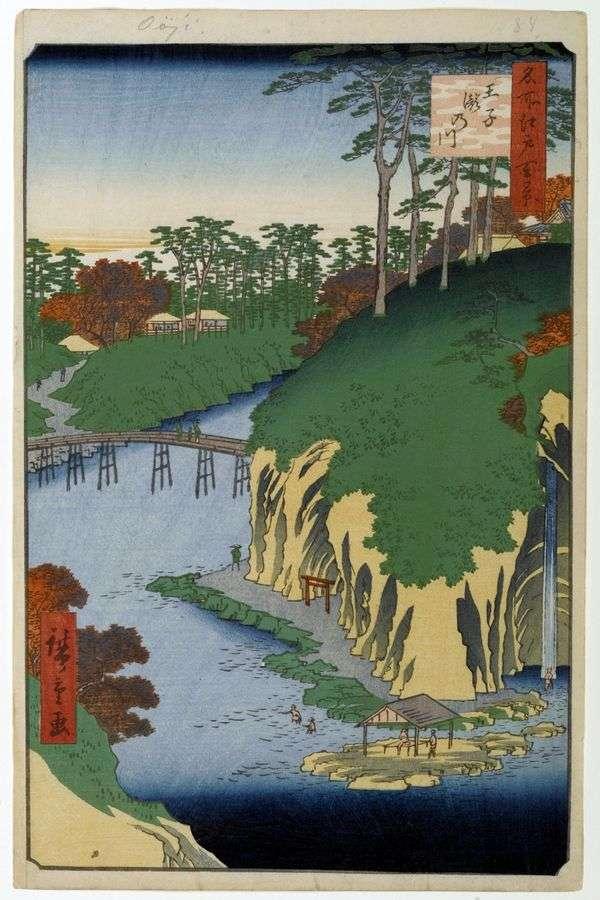 在Oji的Takinawa领土   Utagawa Hiroshige