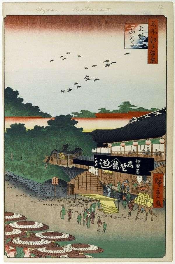 上野山下地区   歌川广重
