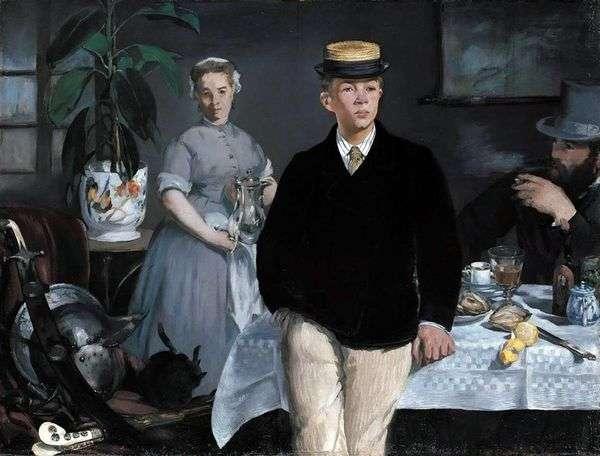 在车间吃早餐   Edouard Manet