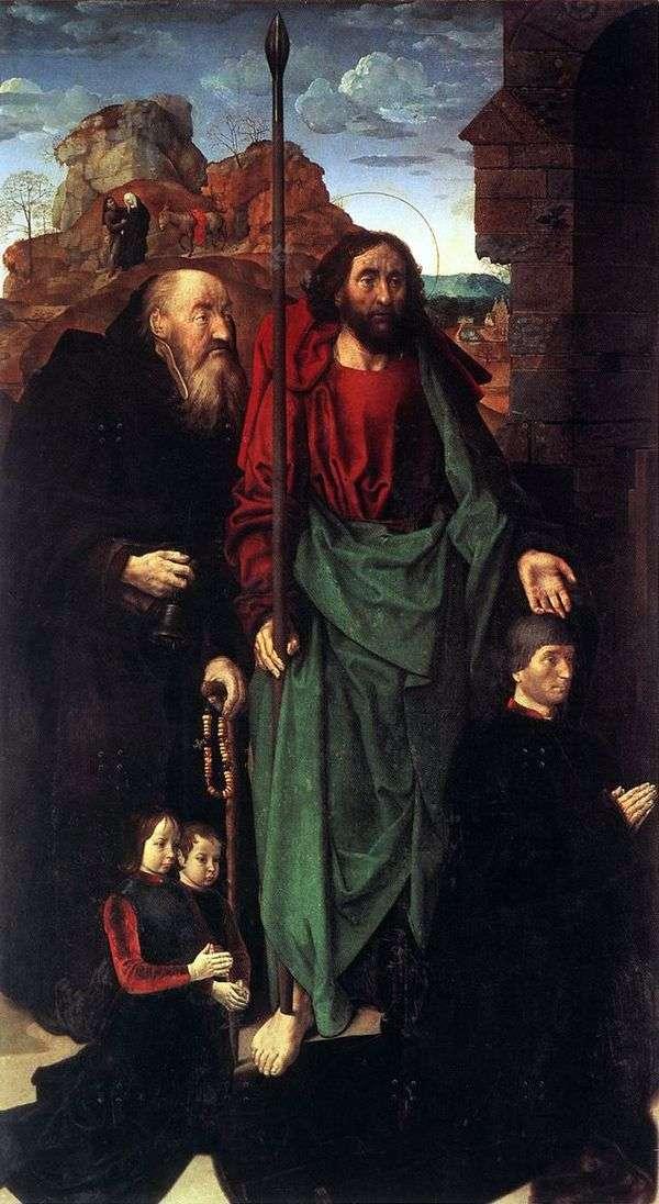 圣诞节(Altar Portinari)。左翼   雨果古斯