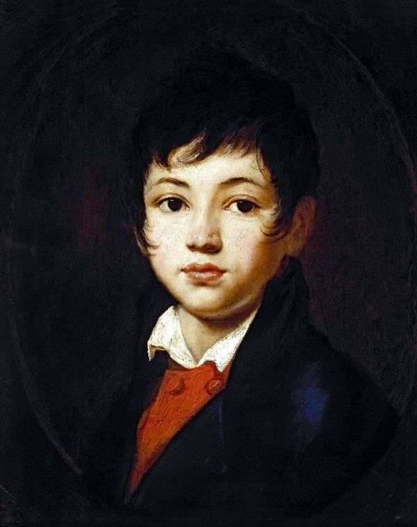 Chelischev男孩的画象   Orest Kiprensky