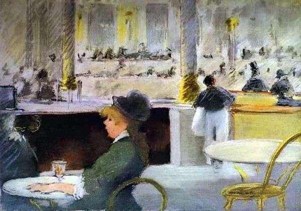 咖啡厅内部   Edouard Manet
