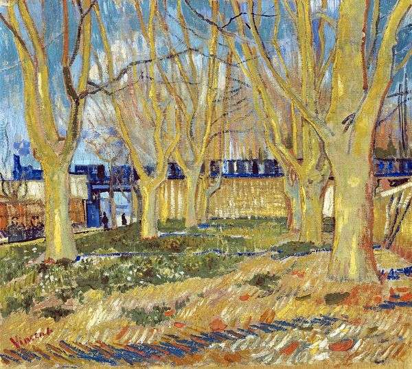 Platan Street在Arly Station附近   Vincent Van Gogh