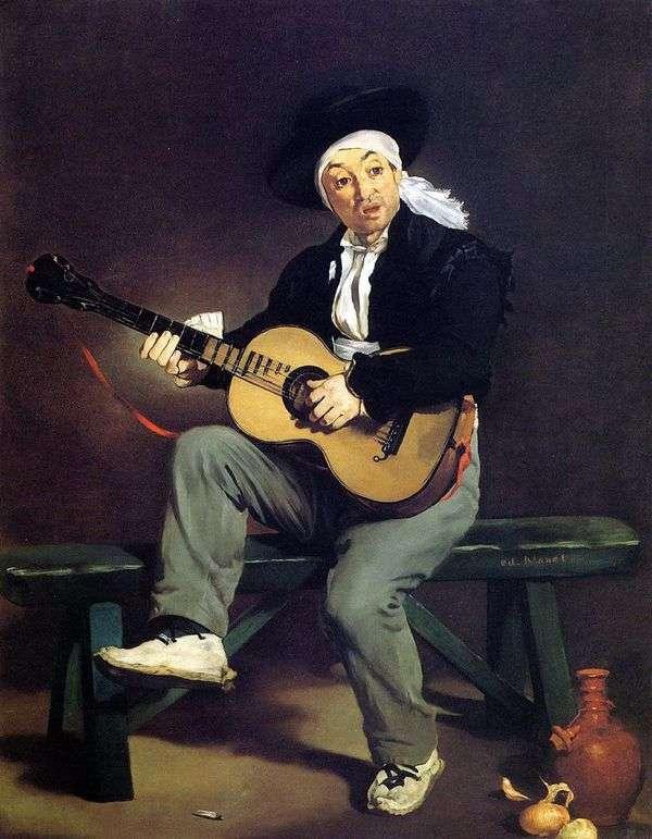 西班牙吉他手   爱德华 马奈
