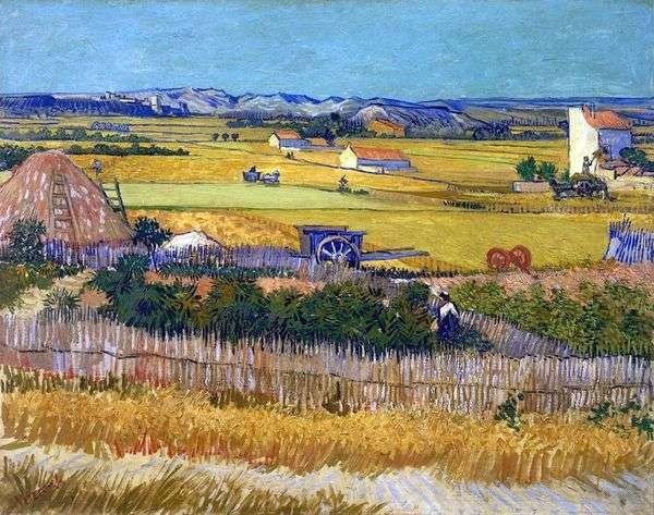 在背景中收获La Croce和Montmajor(收获)   Vincent Van Gogh