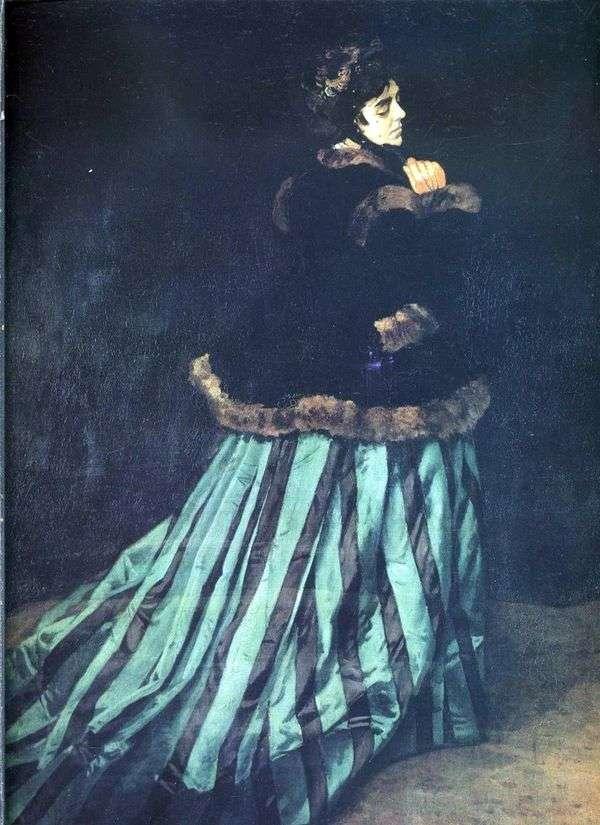 卡米拉(绿色连衣裙的女人)   克劳德莫奈