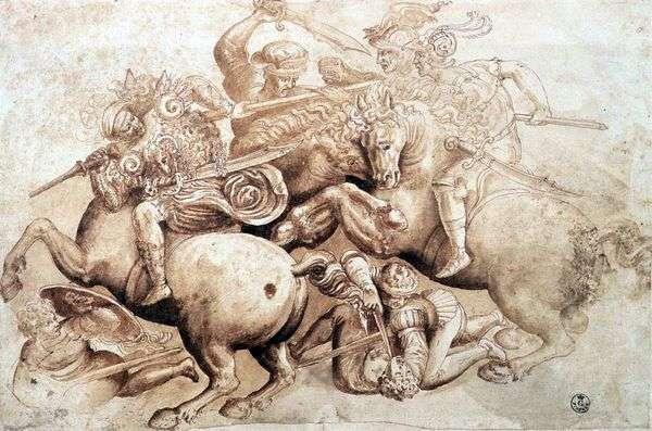 Angiarian Battle   Leonardo da Vinci