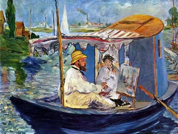 Boat Studio Claude Monet   Edouard Manet