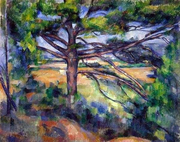 Aix附近的一棵大松树   Paul Cezanne