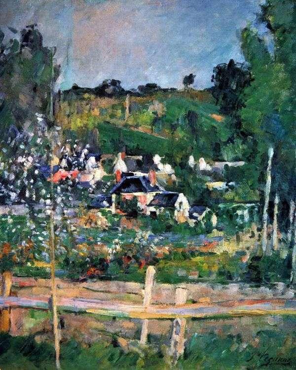 Auvers sur Oise的视图。围栏   保罗塞尚