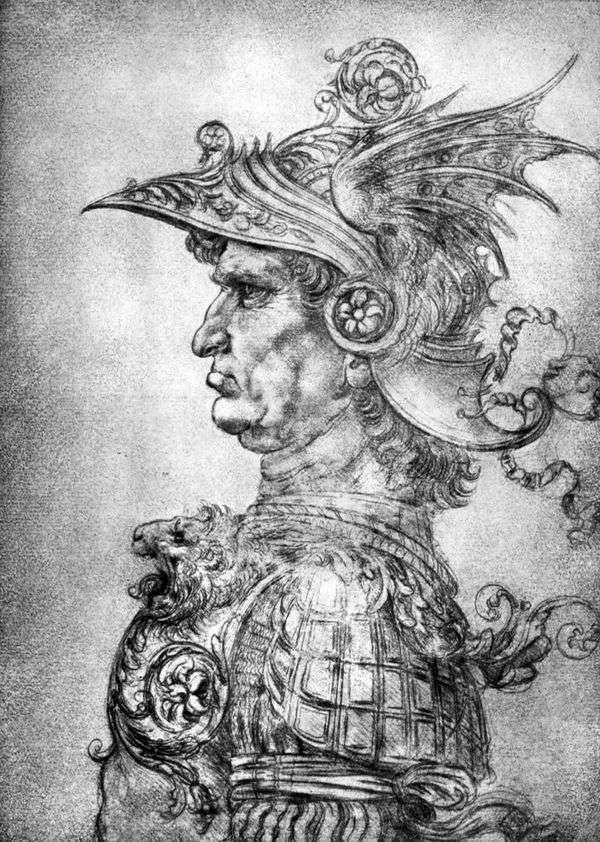 盔甲和盔甲的战士   达芬奇