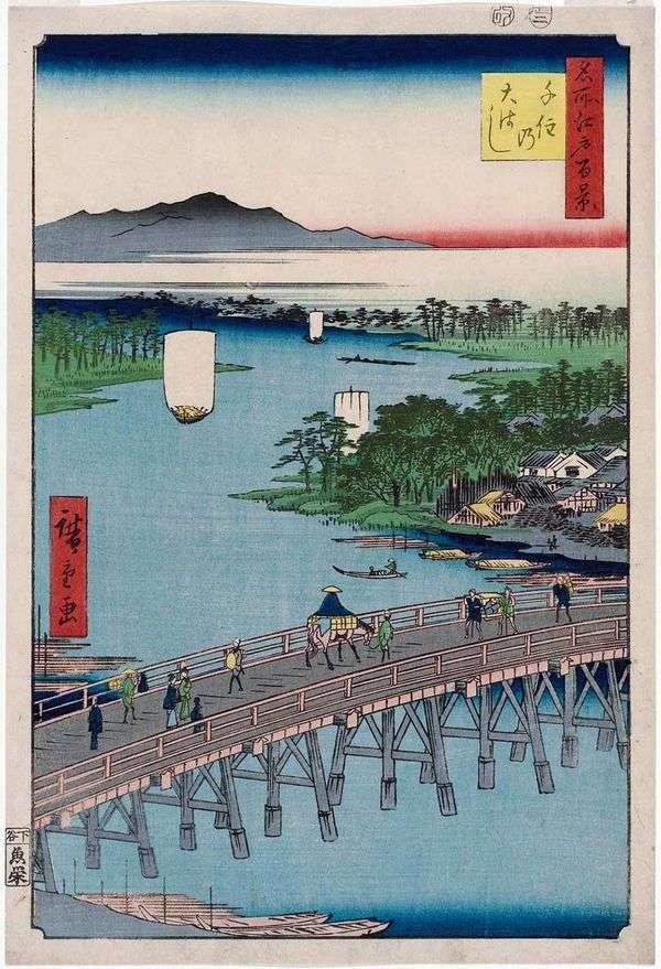 Senju的大桥桥   Utagawa Hiroshige