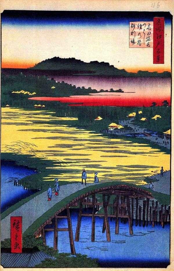 Sugatamihashi Bridge,Omo Kagehashi Bridge和Dzyriba   Utagawa Hiroshige Village