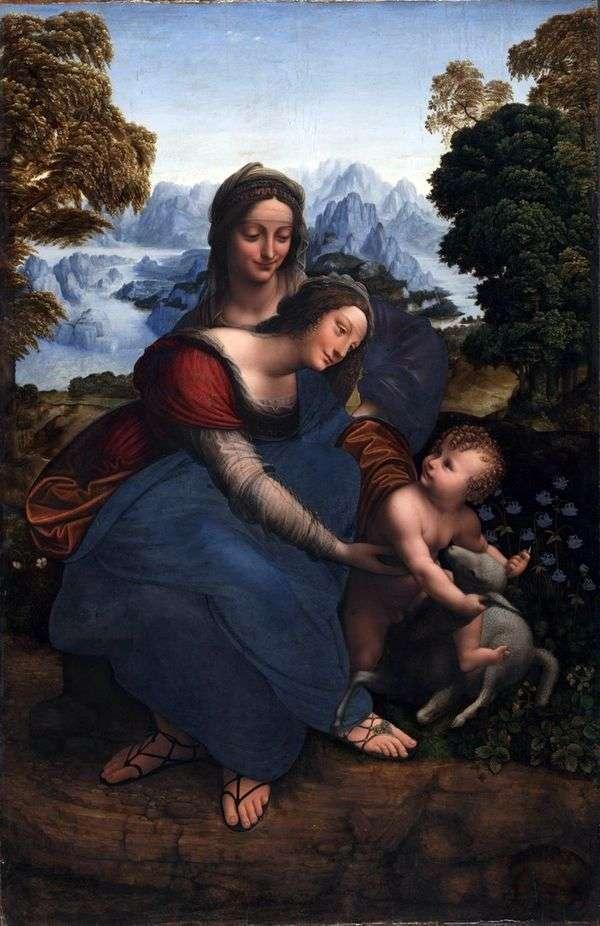 圣母玛利亚与一个孩子和圣安妮   莱昂纳多达芬奇