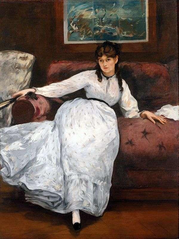 Bertha Morisot的画像   Edouard Manet