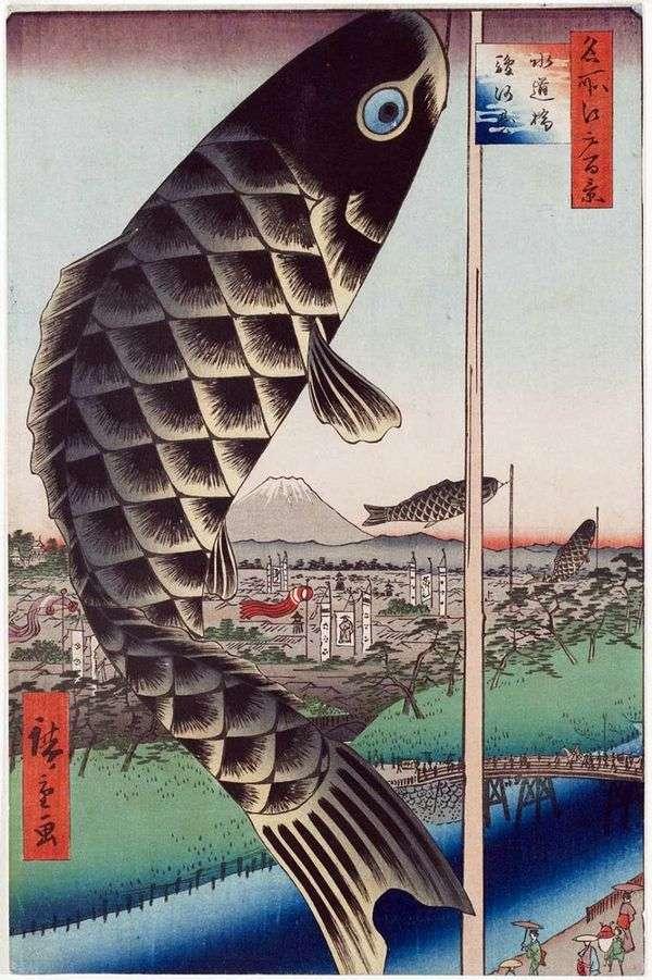 Suugadai的Suydubashi桥   Utagawa Hiroshige