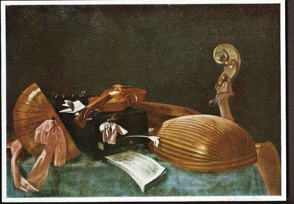 静物与乐器   Evaristo Baschenis