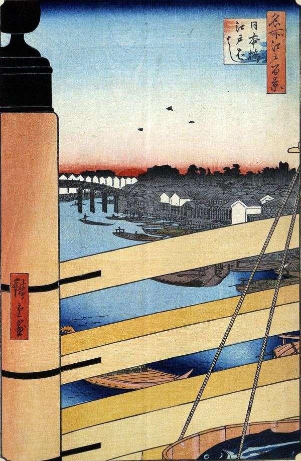 Nihonbashi和Edobashi桥梁   Utagawa Hiroshige