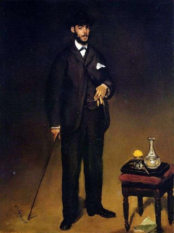 西奥多 杜尔的肖像   爱德华 马奈