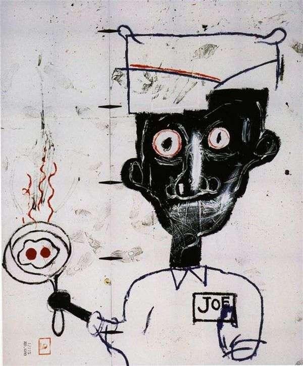 眼睛和鸡蛋   Jean Michel Basquiat