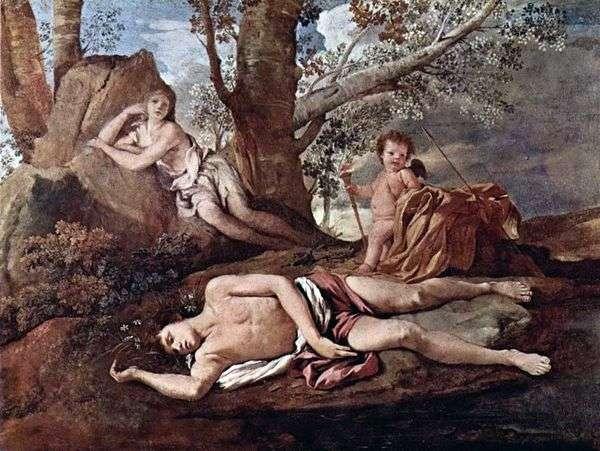 Narcissus和Echo   Nicolas Poussin