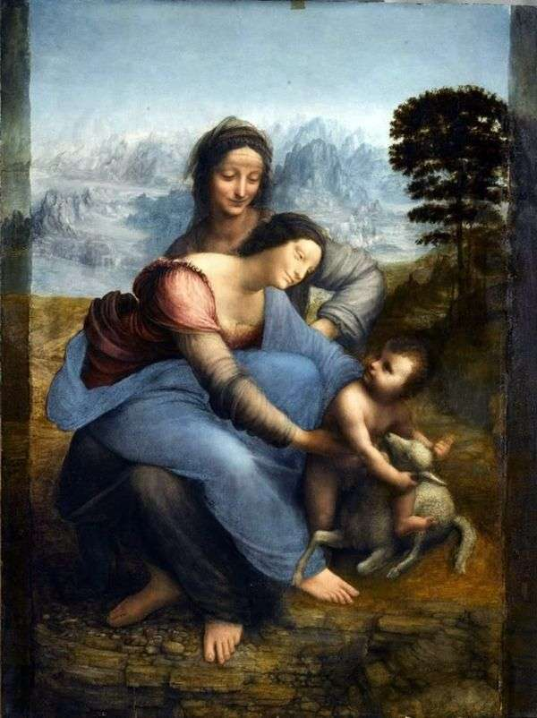麦当娜和孩子与圣安妮   达芬奇