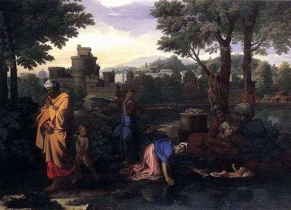 在尼罗河中放弃摩西   尼古拉斯普桑