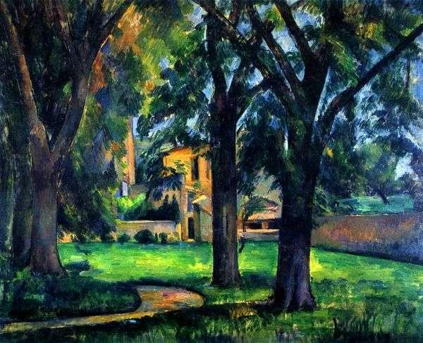 Zha de Buffans的栗子和附属建筑   Paul Cezanne