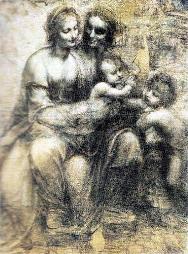 麦当娜和儿童,安娜和约翰   达芬奇