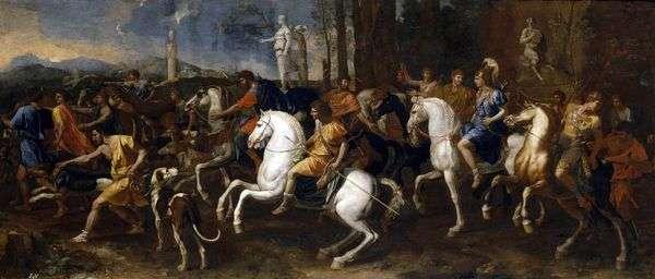 狩猎Meleagra和Atalanta   Nicolas Poussin