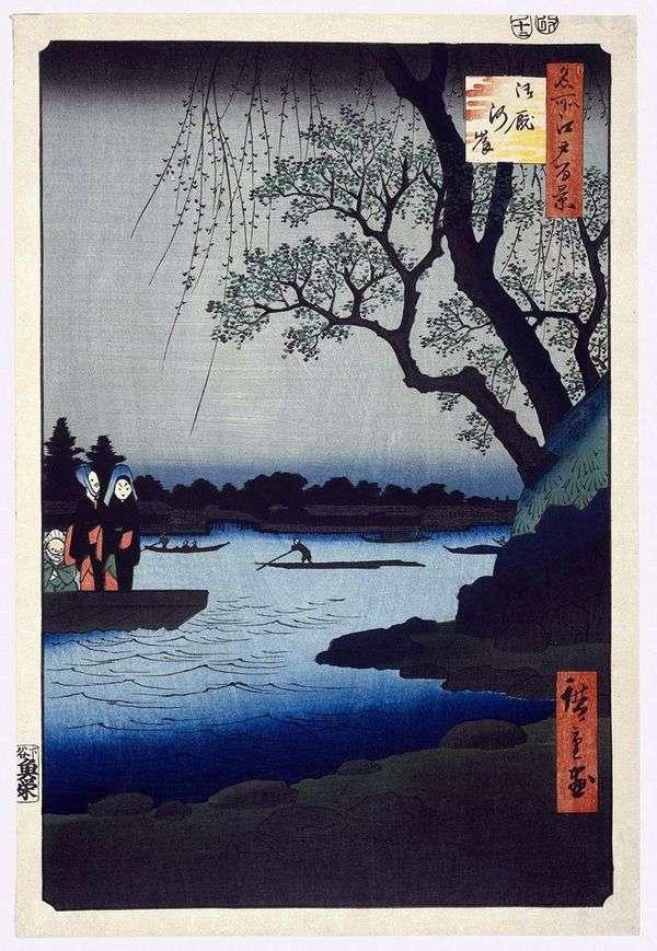 Ommayagashi Embankment   Utagawa Hiroshige