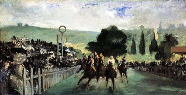 Longchamp上的赛马   Edouard Manet