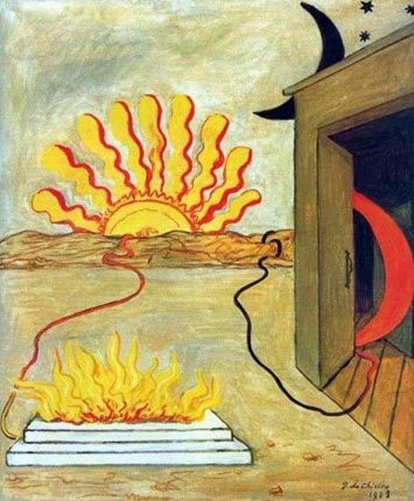 牺牲到太阳   Giorgio de Chirico